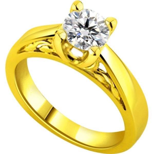 diamond ring with 18 carat gold